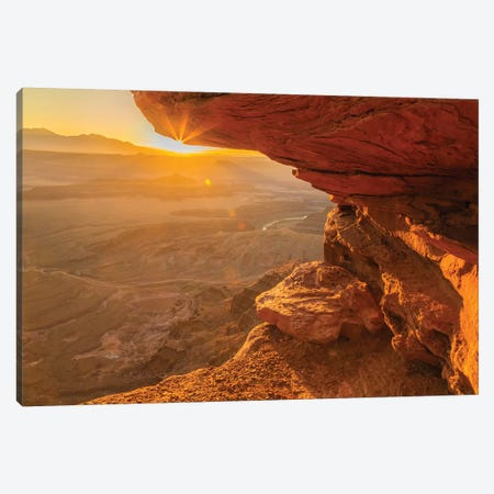 USA, Utah, Dead Horse Point State Park. Sunrise on rock formations. Canvas Print #JYG161} by Jaynes Gallery Canvas Wall Art