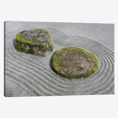 USA, Washington State, Bainbridge Island. Raked sand around rock I Canvas Print #JYG167} by Jaynes Gallery Canvas Print