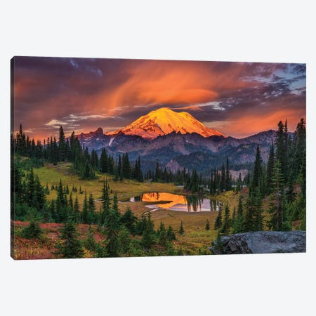 USA, Washington State, Mt. Rainier National Park at sunrise. Canvas Print #JYG170} by Jaynes Gallery Art Print