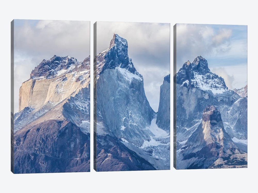 Chile, Patagonia. The Horns mountains I by Jaynes Gallery 3-piece Canvas Wall Art