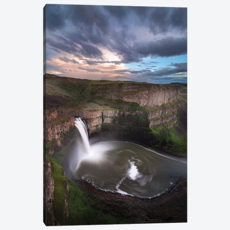 USA, Washington State. Palouse Falls at sunset. Canvas Print #JYG194} by Jaynes Gallery Canvas Art