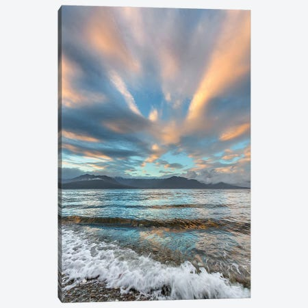 USA, Washington State. Seabeck. Sunset over Hood Canal. Canvas Print #JYG196} by Jaynes Gallery Canvas Art