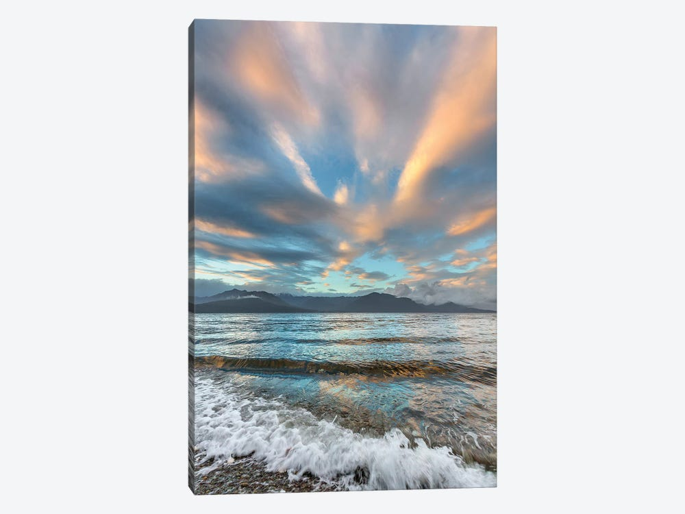 USA, Washington State. Seabeck. Sunset over Hood Canal. by Jaynes Gallery 1-piece Canvas Wall Art