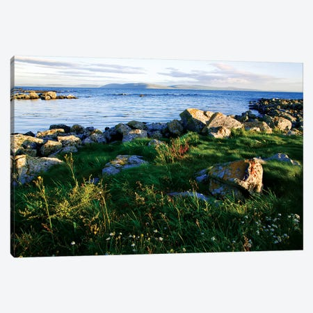 Ireland, Galway Bay. View Of The Bay In Late Afternoon Light. Canvas Print #JYG211} by Jaynes Gallery Canvas Wall Art