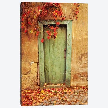 Czech Republic, Prague. Weathered door.  Canvas Print #JYG230} by Jaynes Gallery Canvas Wall Art