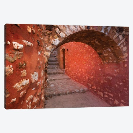 France, Provence, Roussillon. Stone arch and passageway.  Canvas Print #JYG234} by Jaynes Gallery Art Print