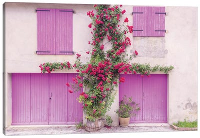 France, Provence. Colorful house facade.  Canvas Art Print