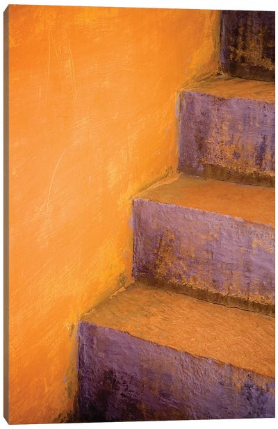 India, Rajasthan. Colorful stairway close-up.  Canvas Art Print