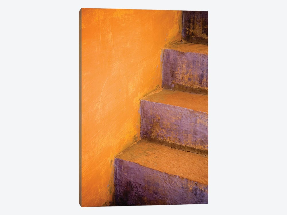 India, Rajasthan. Colorful stairway close-up.  by Jaynes Gallery 1-piece Canvas Print