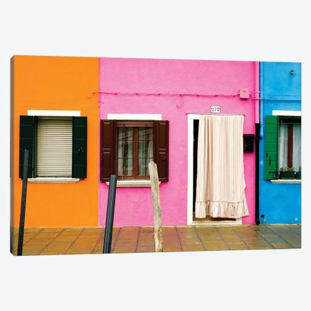 Italy, Burano. Colorful house windows and walls.  Canvas Print #JYG269} by Jaynes Gallery Canvas Print