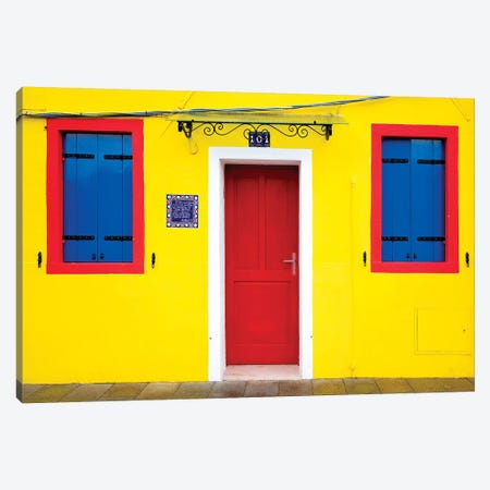 Italy, Burano. Colorful house.  Canvas Print #JYG270} by Jaynes Gallery Canvas Artwork