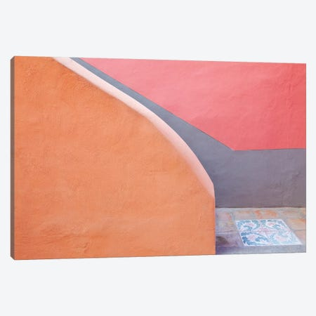 Italy, Procida. Stairwell and wall.  Canvas Print #JYG280} by Jaynes Gallery Art Print