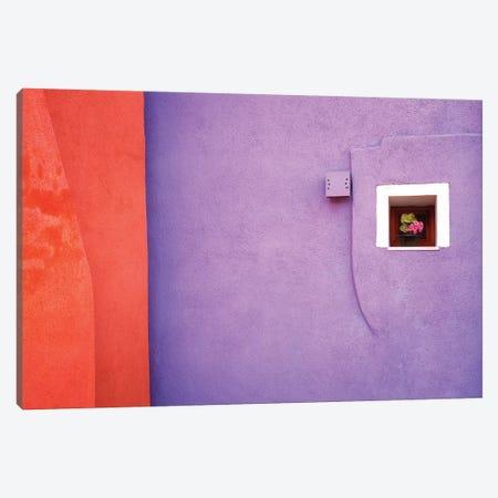 Italy, Veneto, Burano. Close-up of house wall.  Canvas Print #JYG284} by Jaynes Gallery Canvas Wall Art