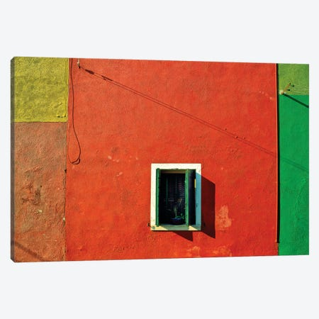 Italy, Veneto, Burano. Close-up of house wall.  Canvas Print #JYG285} by Jaynes Gallery Canvas Artwork