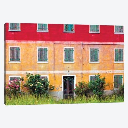 Italy, Veneto. Colorful farmhouse exterior.  Canvas Print #JYG287} by Jaynes Gallery Canvas Artwork