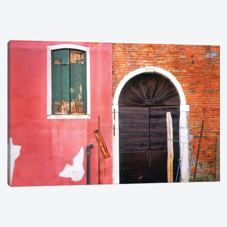 Italy, Venice. Building exterior.  Canvas Print #JYG288} by Jaynes Gallery Art Print
