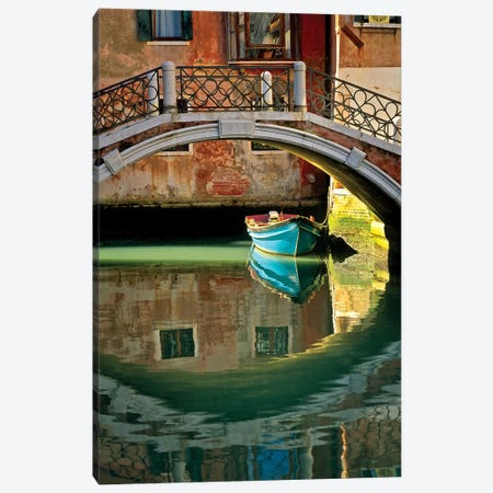 Italy, Venice. Canal bridge and building.  Canvas Print #JYG289} by Jaynes Gallery Canvas Print