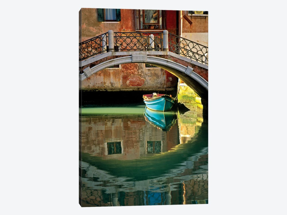 Italy, Venice. Canal bridge and building.  by Jaynes Gallery 1-piece Canvas Art