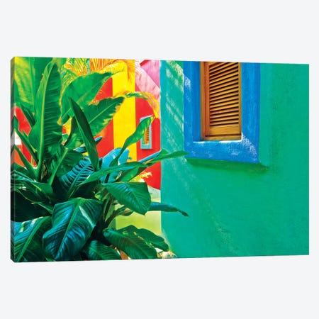 Mexico, Costalegre. Colorful hotel walls.  Canvas Print #JYG296} by Jaynes Gallery Art Print