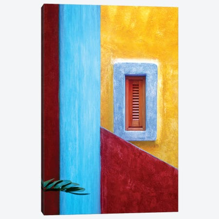 Mexico, Costalegre. Colorful hotel walls.  Canvas Print #JYG297} by Jaynes Gallery Canvas Art Print