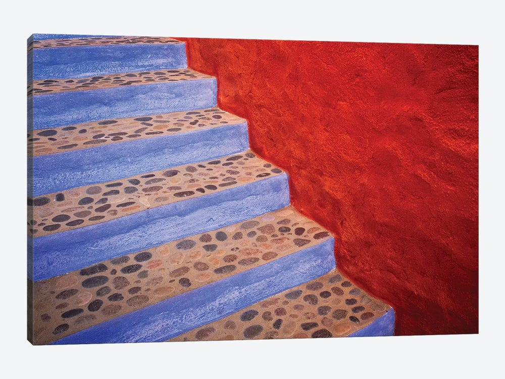 Mexico, Costalegre. Colorful stone stairs.  by Jaynes Gallery 1-piece Canvas Wall Art