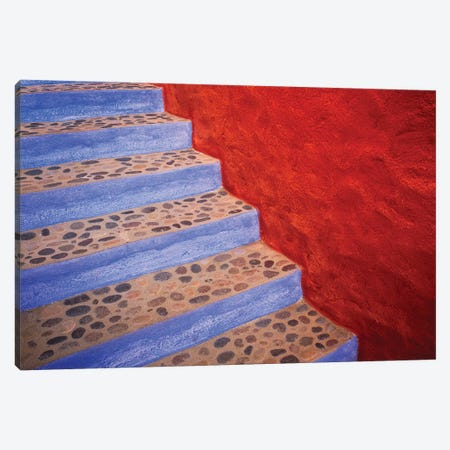 Mexico, Costalegre. Colorful stone stairs.  Canvas Print #JYG298} by Jaynes Gallery Canvas Artwork