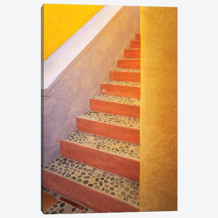 Mexico, Costalegre. Colorful stone stairs.  Canvas Print #JYG299} by Jaynes Gallery Canvas Wall Art