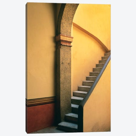 Mexico, Costalegre. Stone stairway of house.  Canvas Print #JYG300} by Jaynes Gallery Canvas Art