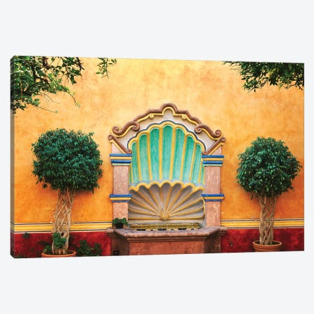Mexico, Queretaro. Courtyard with fountain.  Canvas Print #JYG303} by Jaynes Gallery Canvas Art