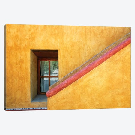Mexico, Queretaro. Window and stairway of building.  Canvas Print #JYG305} by Jaynes Gallery Canvas Print
