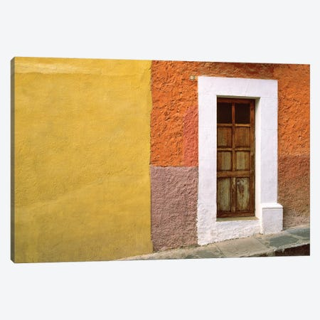 Mexico, San Miguel de Allende. Door and house exterior.  Canvas Print #JYG306} by Jaynes Gallery Art Print