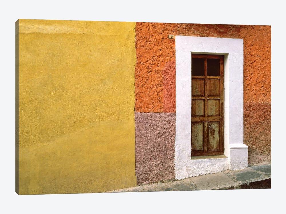 Mexico, San Miguel de Allende. Door and house exterior.  by Jaynes Gallery 1-piece Canvas Artwork