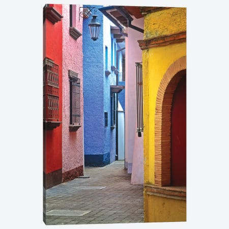 Mexico, Veracruz State. Colorful colonial architecture.  Canvas Print #JYG310} by Jaynes Gallery Canvas Art Print