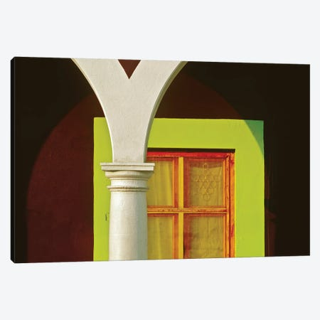 Mexico, Veracruz, Tlacotalpan. Window and arch of home.  Canvas Print #JYG311} by Jaynes Gallery Canvas Print
