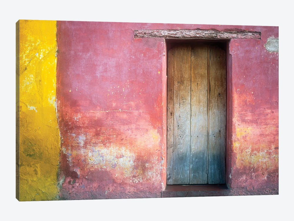 Mexico, Xico. House entrance.  by Jaynes Gallery 1-piece Canvas Artwork