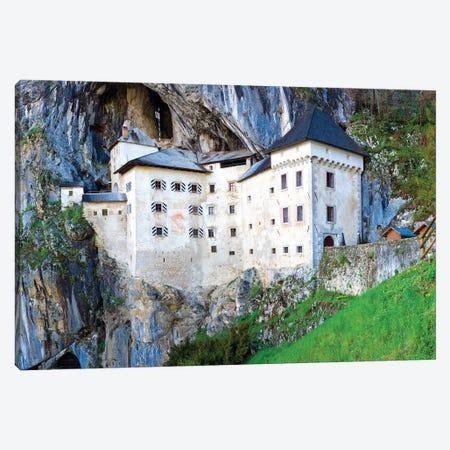 Slovenia, Predjama Castle. Castle built into mountain wall.  Canvas Print #JYG319} by Jaynes Gallery Art Print