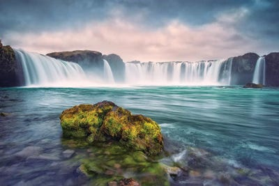 gooafoss-iceland-waterfall-falls-WALL ARTS high quality Canvas home decor
