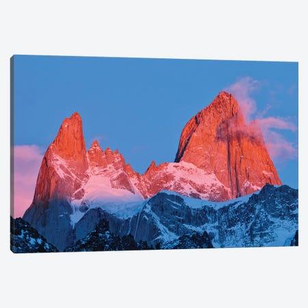 Argentina, Patagonia, Los Glaciares National Park. Sunrise on Mount Fitz Roy. Canvas Print #JYG403} by Jaynes Gallery Canvas Print