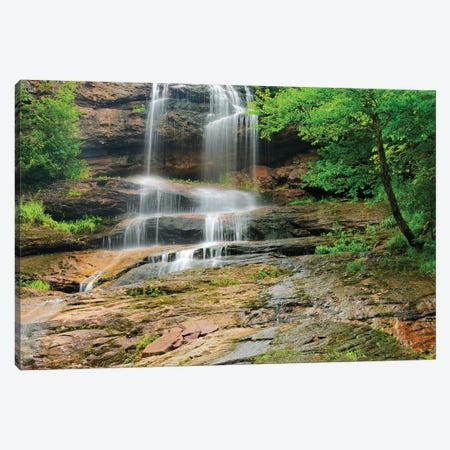Canada, Nova Scotia, Cape Breton Highlands National Park. Beulach Ban Falls cascade. Canvas Print #JYG448} by Jaynes Gallery Canvas Print
