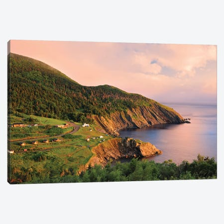 Canada, Nova Scotia, Meat Cove. Sunset on Cape Breton Island. Canvas Print #JYG451} by Jaynes Gallery Canvas Art