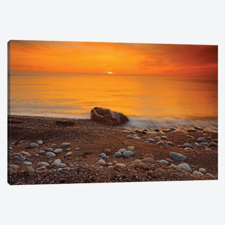 Canada, Nova Scotia, Pleasant Bay. Sunset on Gulf of St. Lawrence. Canvas Print #JYG452} by Jaynes Gallery Canvas Artwork