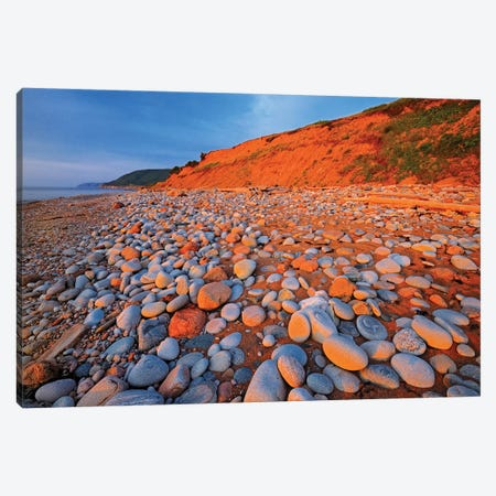 Canada, Nova Scotia, Pleasant Bay. Sunset on shore of Gulf of St. Lawrence. Canvas Print #JYG453} by Jaynes Gallery Canvas Wall Art