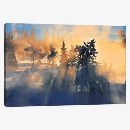 Canada, Ontario, Vermillion Bay. Wabigoon River at sunrise. Canvas Print #JYG474} by Jaynes Gallery Art Print