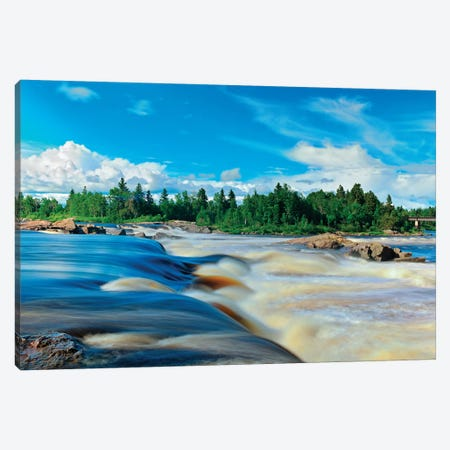 Canada, Quebec, Saint-Felicien. Chutes a Michel on Ashuapmushuan River. Canvas Print #JYG482} by Jaynes Gallery Art Print
