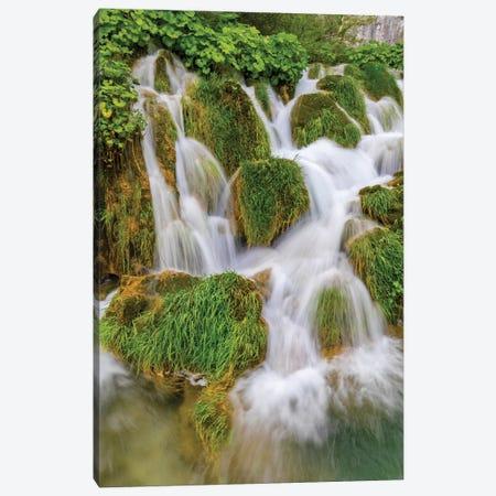 Croatia. Waterfalls in Plitvice National Park. Canvas Print #JYG548} by Jaynes Gallery Canvas Art