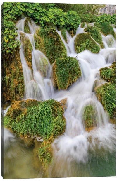 Croatia. Waterfalls in Plitvice National Park. Canvas Art Print