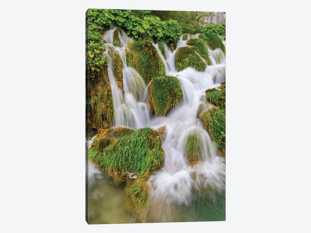Croatia. Waterfalls in Plitvice National Park. by Jaynes Gallery 1-piece Canvas Wall Art