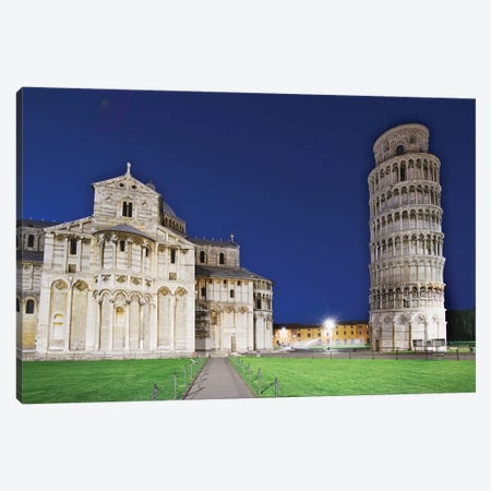 Italy, Pisa. Pisa Cathedral and Leaning Tower Canvas Print #JYG54} by Jaynes Gallery Canvas Artwork