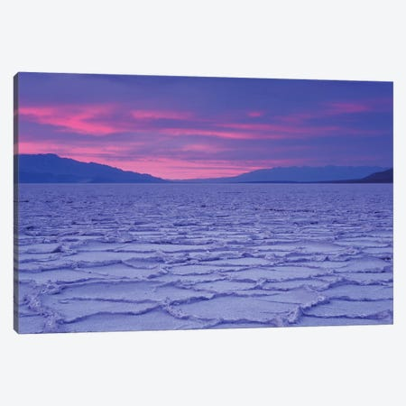 USA, California, Death Valley National Park. Salt flats at sunset. Canvas Print #JYG630} by Jaynes Gallery Canvas Wall Art