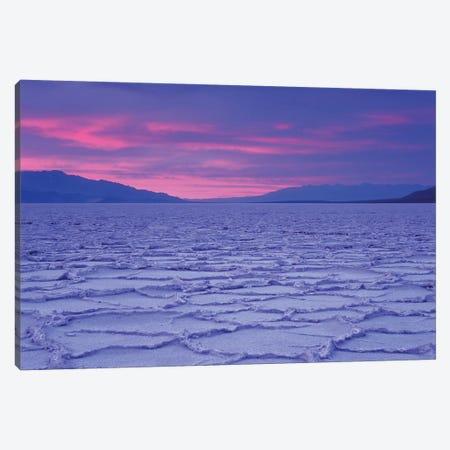USA, California, Death Valley National Park. Salt flats at sunset. Canvas Print #JYG630} by Jaynes Gallery Canvas Wall Art